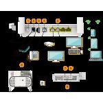 HUAWEI EchoLife EG8145V5 GPON ONT terminal 4x GE 1x RJ11 (POTS) 1x USB dual band WiFi 2,4 / 5 GHz